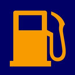 ガソリン残量警告灯